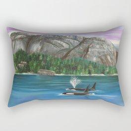 Orcas at the Chief Rectangular Pillow
