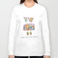 how i met your mother Long Sleeve T-shirts featuring How I Met Your Father by mariorigami