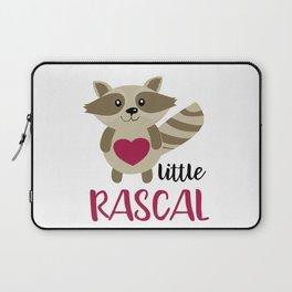Little Rascal Raccoon Kids Cute Forest Animal Laptop Sleeve