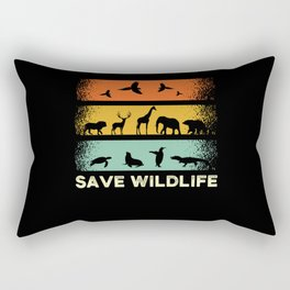 Animal Rights Activist Animal Rescuer Saying Rectangular Pillow