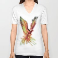 phoenix V-neck T-shirts featuring phoenix by OLHADARCHUK