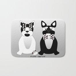 Date Night  - French Bulldogs Bath Mat