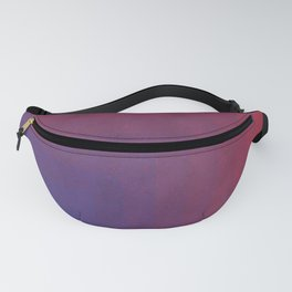 Abstract Rectangle Games - Gradient Pattern between Dark Blue and Moderate Red Fanny Pack