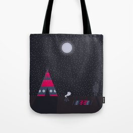 Cosy night in the teepee Tote Bag