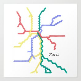 Paris Metro Square Art Print