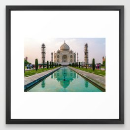 Taj Mahal at Sunset Framed Art Print