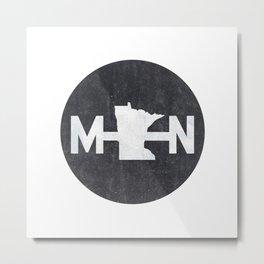 Minnesota Logo MN Metal Print