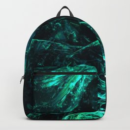 Enthralling Intriguing Turquoise Ghastly Dystopian Masked Man Ultra HD Backpack