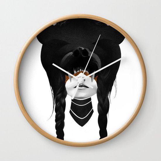 Bear Warrior Wall Clock