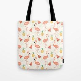 Watermelon Flamingo Pineapple Tote Bag