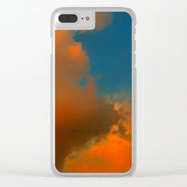 Orange and Blue Skies Clear iPhone Case