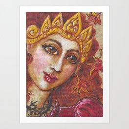Harvest Queen Art Print