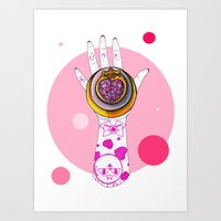 chibi Art Prints featuring Chibi Moon by scoobtoobins