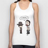 coral Tank Tops featuring Coral by kaylieghkartoons