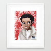 princess leia Framed Art Prints featuring Leia by BellaG studio