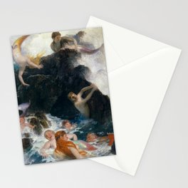Play of the Nereides by Arnold Bocklin, 1886 Stationery Cards