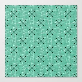 Atomic Starbursts Mid-Century Style Canvas Print