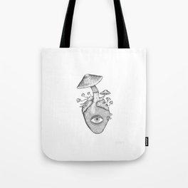 Eye Heart Shrooms Tote Bag