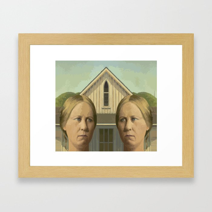 Gay American Gothic - LGBT Marriage Equality Framed Art Print