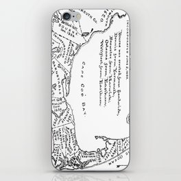Vintage Map of Cape Cod (1890) iPhone Skin