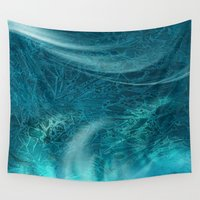 aqua Wall Tapestries featuring aqua by haroulita