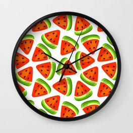 Watermelon seamless pattern Wall Clock