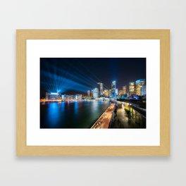 Sydney Skyline dressed in deep blue tones Framed Art Print