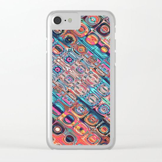 Colorful Circular Pattern Clear iPhone Case