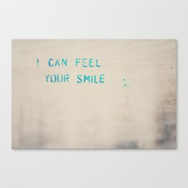 I can feel your smile graffiti ... Canvas Print