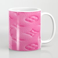 lv Mugs featuring Pink LV by I Love Decor