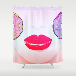 Donuts Girl Shower Curtain