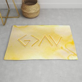 God Is Greater - YELLOW Rug