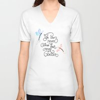 wonderland V-neck T-shirts featuring Wonderland by jozi.art