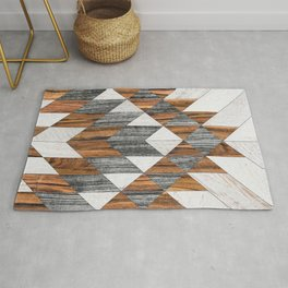 Urban Tribal Pattern No.12 - Aztec - Wood Rug