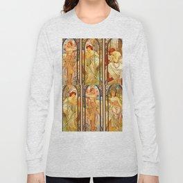 "Alphonse Mucha ""Times of day"" Long Sleeve T-shirt"