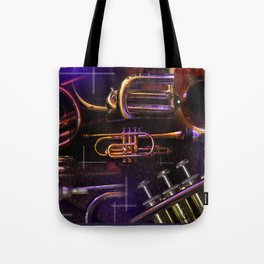 The Trumpet Glow Tote Bag