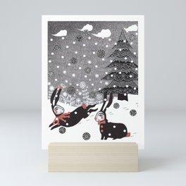 Snow Carnival Mini Art Print