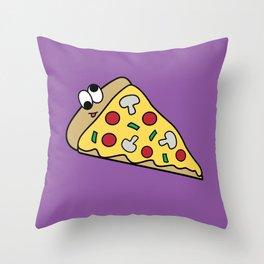 Goofy Foods - Goofy Pizza Throw Pillow