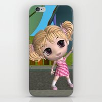 chibi iPhone & iPod Skins featuring Chibi Girl by ChibiGirl