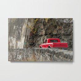 Red Pickup 67' Metal Print