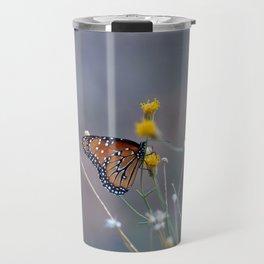 Two Monarch Butterflies Travel Mug