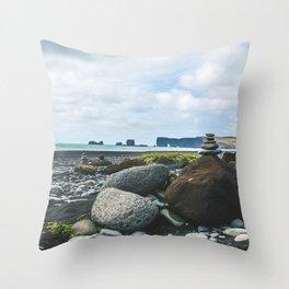 Coastal Stacks Throw Pillow