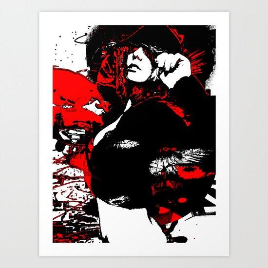 Hooded Woman 3 Art Print