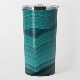 Blue waves Travel Mug