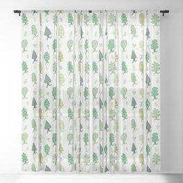 Run Forest Run Pattern Sheer Curtain