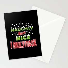 Naughty but Nice. I Multitask! Stationery Cards