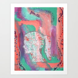 Growth Abstract Painting Art Print