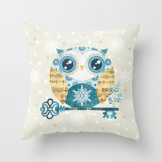Winter Wonderland Owl Throw Pillow