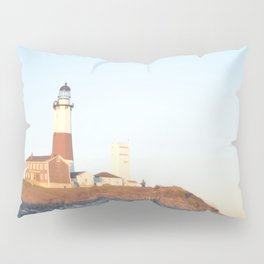 Sunset at Lighthouse in East Hampton Pillow Sham