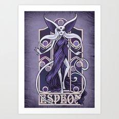 Rule 63: Espeon Art Print
